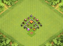 Town Hall 2 Defense Base TH 2 Clash of Clans Base Layout