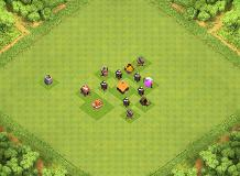 da wizard crusher&grinder TH 1 Clash of Clans Base Layout