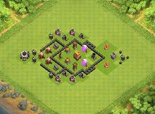 awesome base for winning lol TH 4 Clash of Clans Base Layout