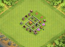 Townhall LVL 3 TH 3 Clash of Clans Base Layout