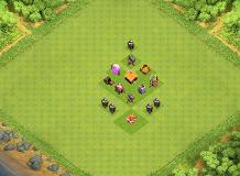 TH 1 tropie base TH 1 Clash of Clans Base Layout