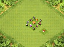 just any random TH 1 Clash of Clans Base Layout