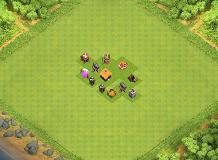 BEST TH1 DEFENCE TH 1 Clash of Clans Base Layout