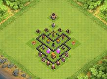 Coc Th 4 Best Defence Base 10