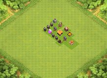 sky TH 1 Clash of Clans Base Layout