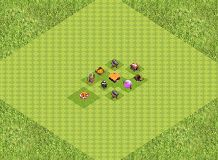 TH1 Trophies TH 1 Clash of Clans Base Layout