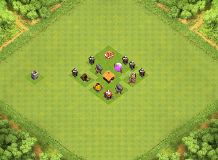Kevin's Town Hall 1 Base TH 1 Clash of Clans Base Layout