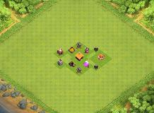 th 1 base TH 1 Clash of Clans Base Layout