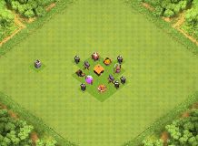Level 1 Town Hall Base TH 1 Clash of Clans Base Layout