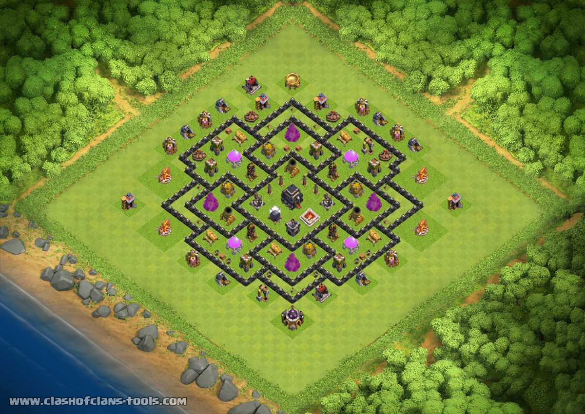 Th9 No Archer Queen Th9 Hybrid Base By Greenlance Clash Of Clans