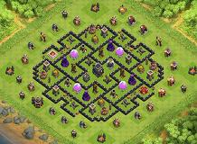 Town Hall 9 Defense Base - TH9 Trophies Base by philyang07 | Clash of Clans
