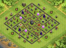 Square! TH 9 Clash of Clans Base Layout